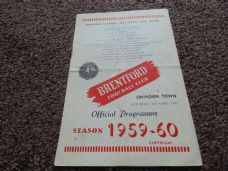 Brentford v Swindon Town, 1959/60